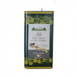 Olio extra vergine d'oliva biologico 5 litri